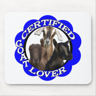 CERTIFIED GOAT LOVER! MOUSE PAD