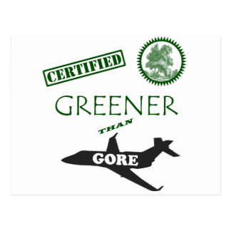 Certified Greener than Gore Postcard
