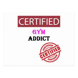 Certified Gym Addict Postcard