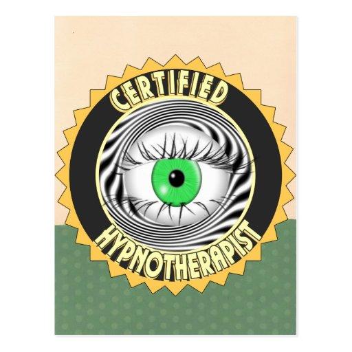 CERTIFIED HYPNOTHERAPIST LOGO POSTCARDS