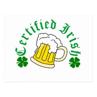 Certified Irish Beer Postcard