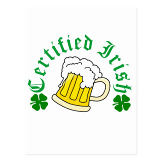 Certified Irish Beer Postcard