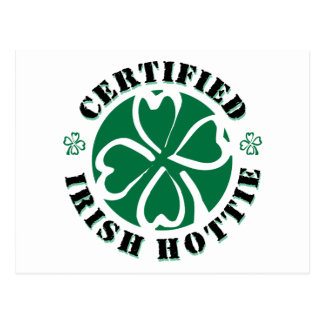 Certified Irish Hottie Post Card