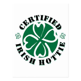 Certified Irish Hottie Postcard
