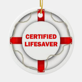 Certified Lifesaver Christmas Ornament