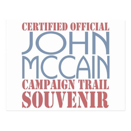 Certified McCain Post Card