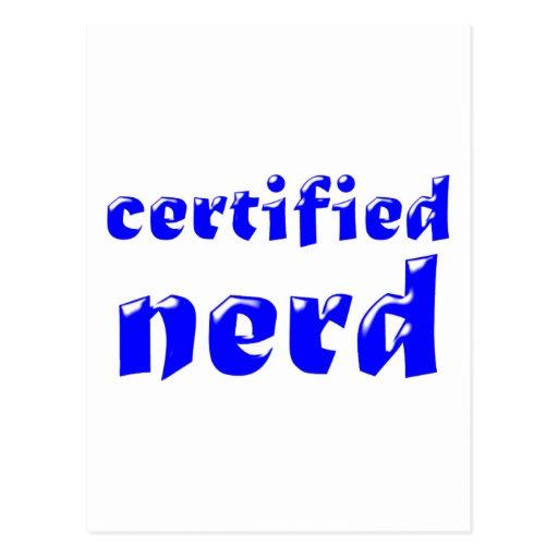certified nerd post card