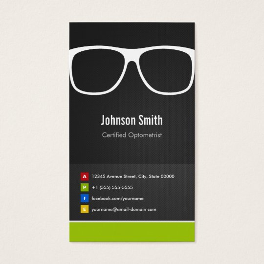 Certified Optometrist Optical Creative Innovative Business Card