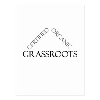 Certified Organic Grassroots Post Card
