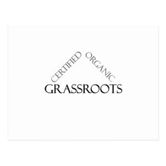 Certified Organic Grassroots Postcards