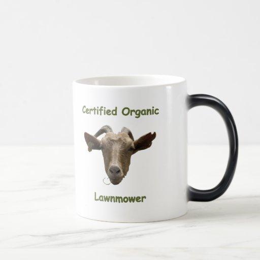 Certified Organic Lawnmower Mugs