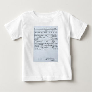 Certified Original Barack Obama Birth Certificate Baby T-Shirt
