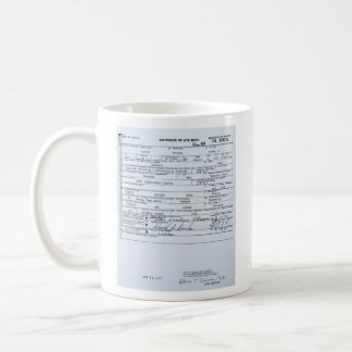 Certified Original Barack Obama Birth Certificate Coffee Mug