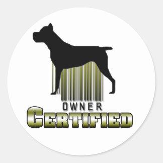 Certified Owner Sticker