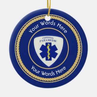 Certified Paramedic Star of Life Universal Christmas Ornament