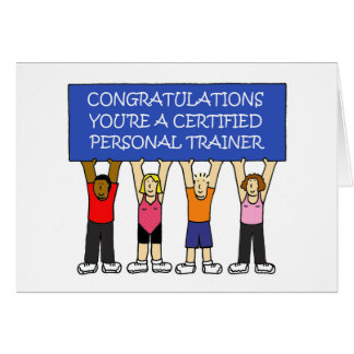 Certified Personal Trainer Congratulations Card