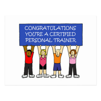 Certified Personal Trainer Congratulations Postcard