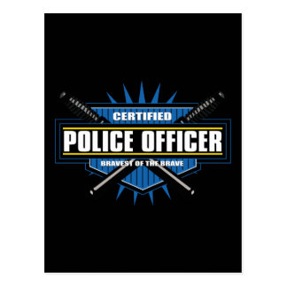 Certified Police Officer Postcard