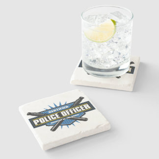 Certified Police Officer Stone Coaster