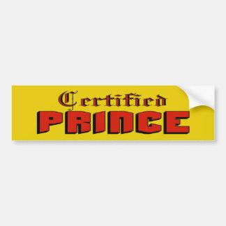 Certified Prince Bumper Sticker