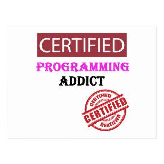 Certified Programming Addict Postcard
