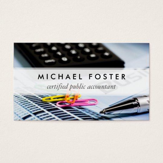 Certified Public Accountant Simple Minimal Elegant Business Card