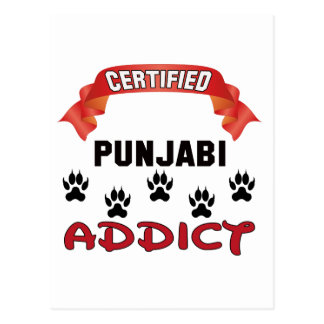 Certified Punjabi Addict Postcard