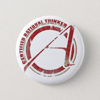Certified Rational Thinker 6 Cm Round Badge