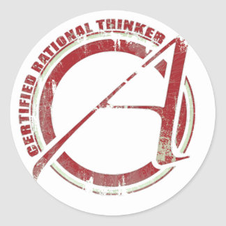 Certified Rational Thinker Round Sticker