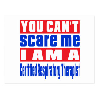 Certified Respiratory Therapist scare designs Postcard