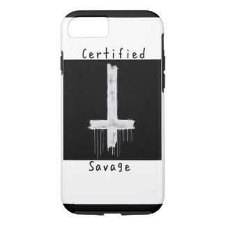 Certified savage anti-christ iphone case