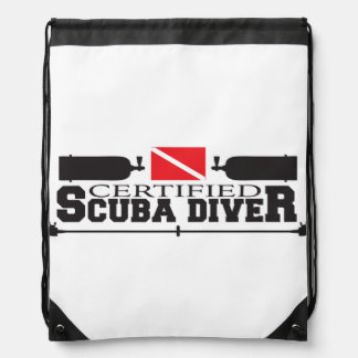 Certified Scuba Diver Drawstring Backpack