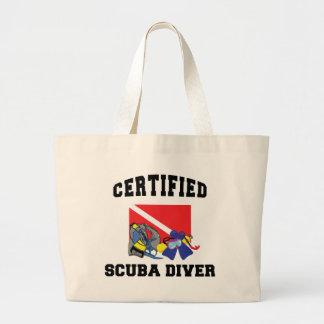 Certified SCUBA Diver Jumbo Tote Bag