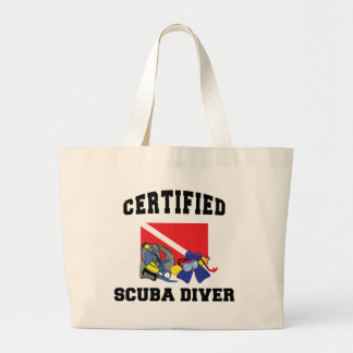 Certified SCUBA Diver Large Tote Bag
