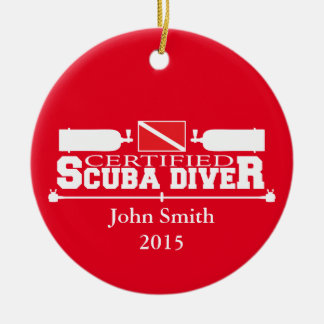 Certified Scuba Diver Ornament Single Sided