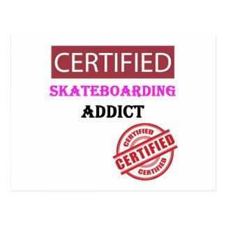 Certified Skateboarding Addict Postcard