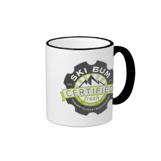 Certified Ski Bum Ringer Mug