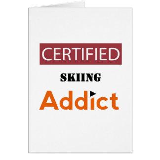 Certified Skiing Addict Card
