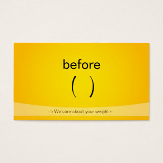 Certified Slim Fitness Weight Loss Fitness Trainer Business Card