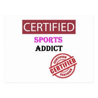 Certified Sports Addict 2 Postcard