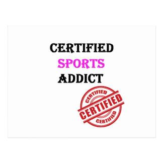 Certified Sports Addict Postcard