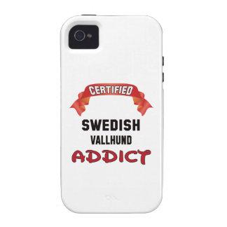 Certified Swedish Vallhund Addict iPhone 4/4S Cases