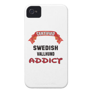 Certified Swedish Vallhund Addict Case-Mate iPhone 4 Cases