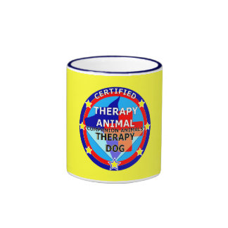 CERTIFIED THERAPY ANIMAL - THERAPY DOG RINGER MUG