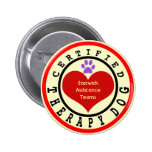 Certified Therapy Dog Organisation Button