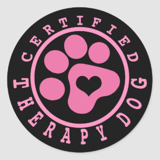 Certified Therapy Dog Round Sticker