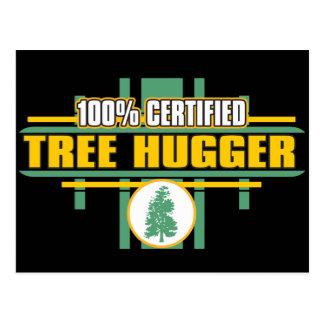 Certified Tree Hugger Postcard