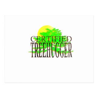 Certified Treehugger Postcard