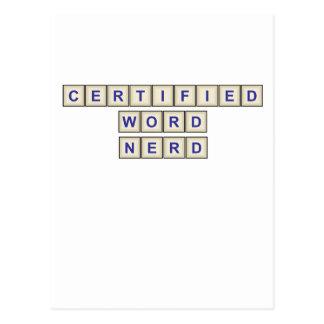 Certified Word Nerd Postcard