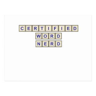 Certified Word Nerd Postcards
